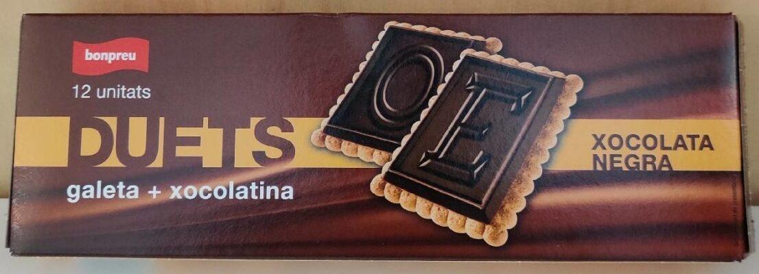 DUETS Galeta + Xocolatina (negra) - Producte - ca