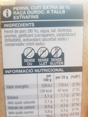 Pernil cuit - Ingrediënten - es