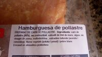 Hamburguesas pollo - Ingrediënten - es