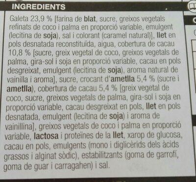 Mini cucurutxo - Ingredients - ca