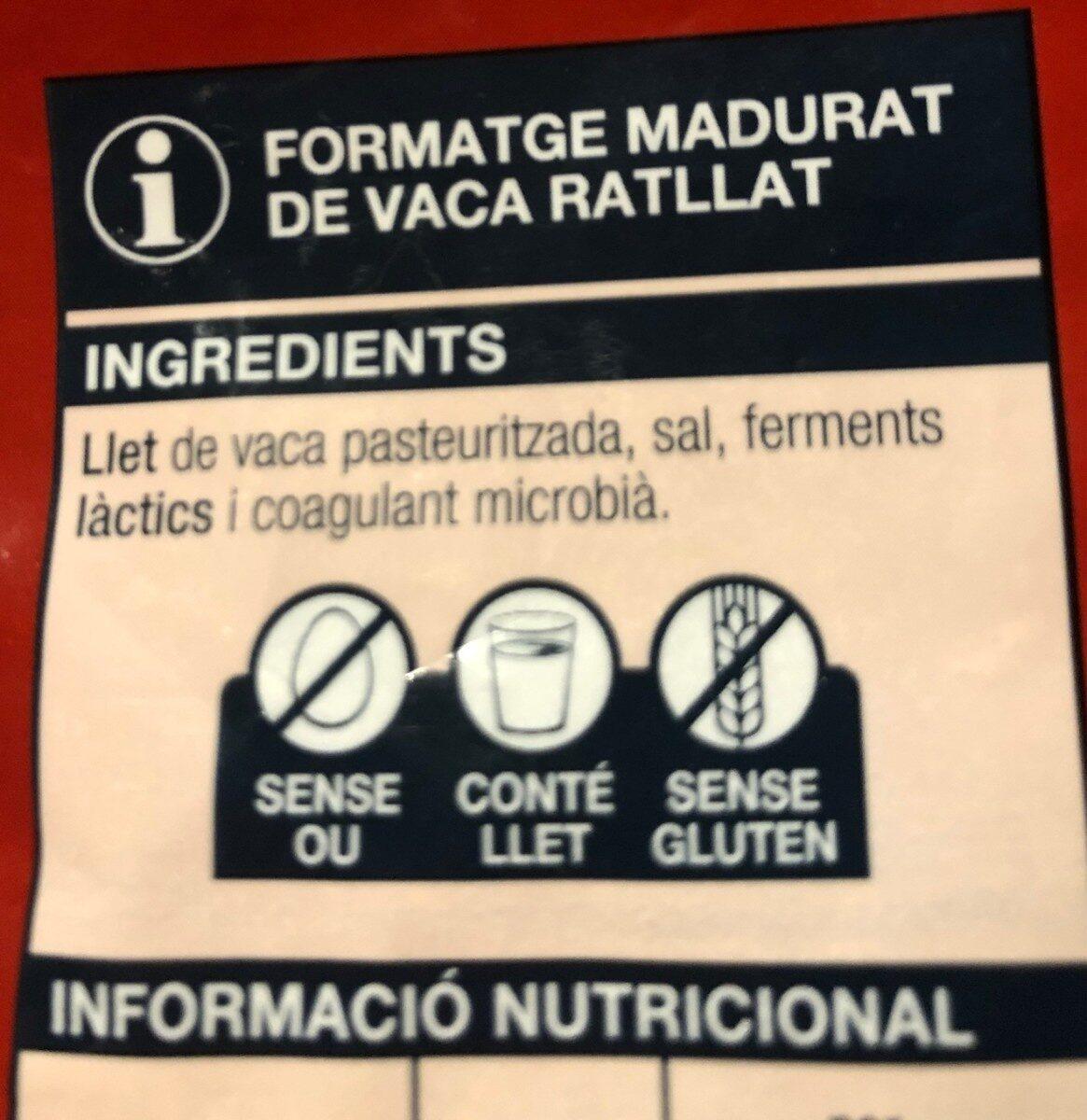 Emmental Francés - Ingrediënten - ca