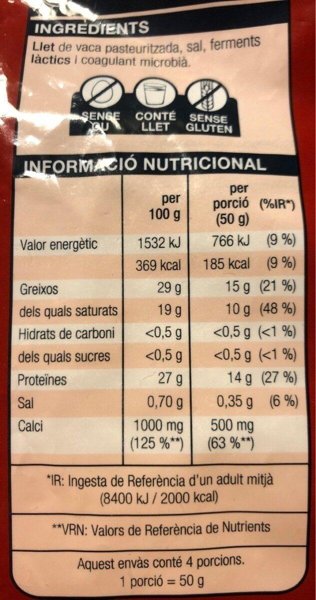 Emmental Francés - Voedingswaarden - ca
