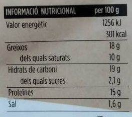 Pizza fresca de formatge de cabra i baco - Nutrition facts