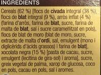 Musli xocolata - Ingredients - ca