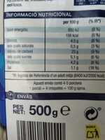Croquetes de bacallà - Voedingswaarden - es