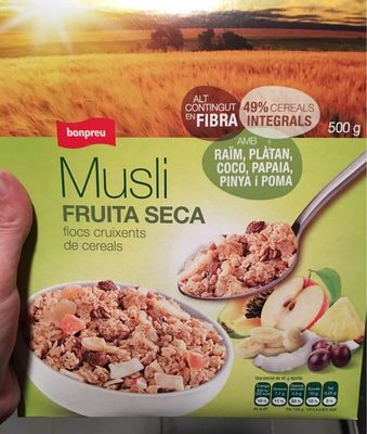 Musli fruita seca - Producte