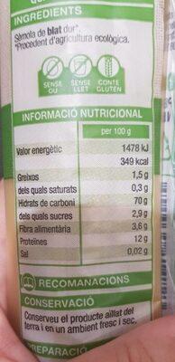 Espaguetis eco - Nutrition facts