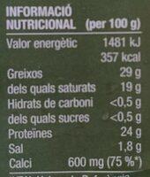 8 talls de formatge Gouda - Voedingswaarden - ca