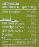 Gouda light - Voedingswaarden - ca