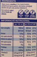 Beguda d'ametlles - Nutrition facts - ca