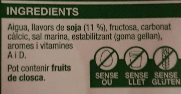 Bebida de soja - Ingredients - ca