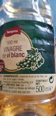 Vinagre de vi blanc - Voedingswaarden - en