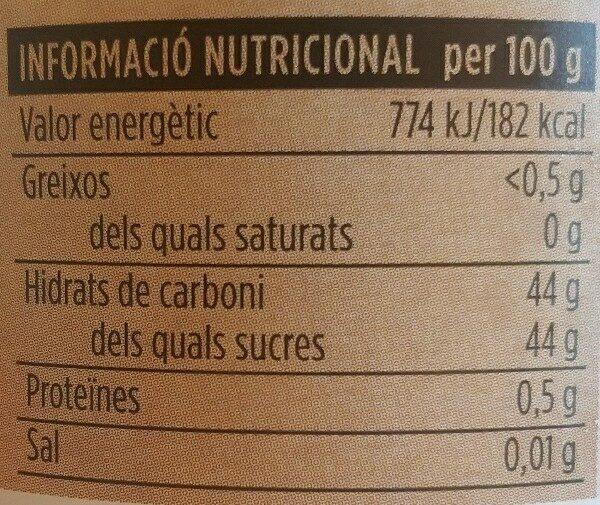 Melmelada de préssec - Ingredients - ca