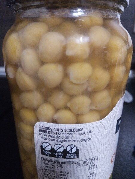 Cigrons - Ingredienti - es