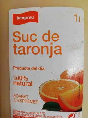 Suc de taronja - Ingrediënten