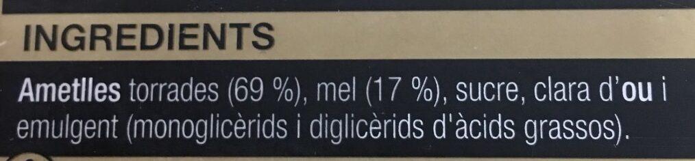 Torro de Xixona - Ingredientes - ca