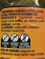 Cogombres especiats petits - Ingredientes - es
