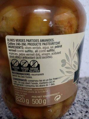 Olives amb pinyol adobades - Ingredients - es