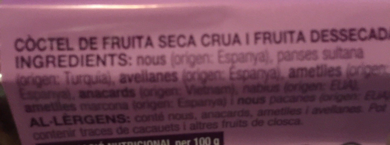 Fruita seca - Ingredients - ca