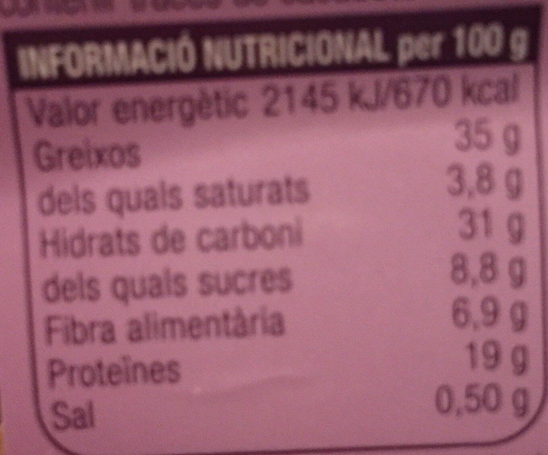 Fruita seca - Informació nutricional - ca