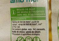Boles de blat de moro amb mel - Ingrediënten - es