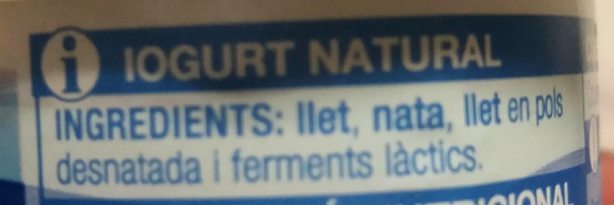 Iogurt grec natural - Ingrediënten - ca