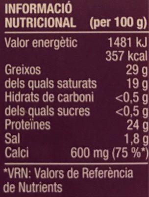 Gouda Sense Lactosa - Voedingswaarden - ca