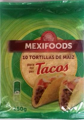 Tortillas de maíz tacos sin gluten paquete 250 g - Producto - es