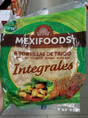 Mexifood 6 tortillas de trigo integrales