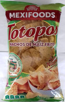 Totopos nachos de maíz fritos sabor natural sin gluten - Producto