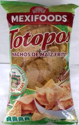Totopos nachos de maíz fritos sabor natural sin gluten - Producto - es