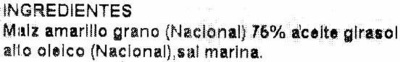 Nachos triangulares - Ingredientes