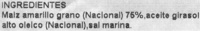 Nachos redondos - Ingrediënten