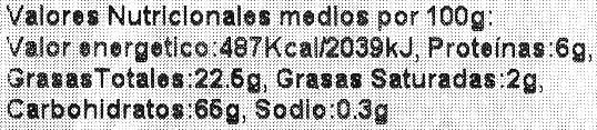 Nachos redondos - Información nutricional