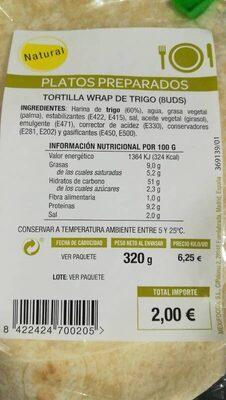 Tortilla wrap de trigo
