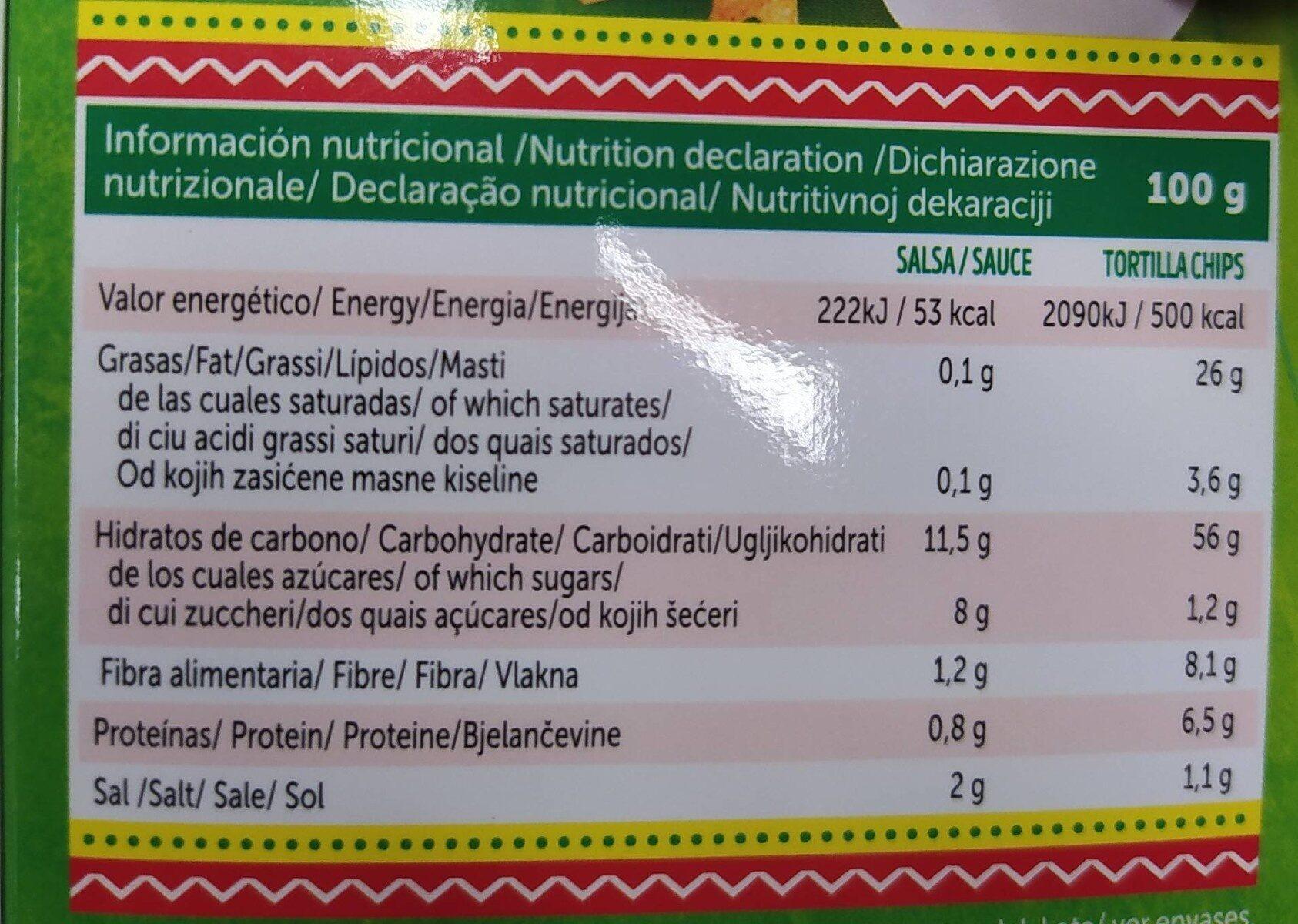 Mexicombo - Informations nutritionnelles - es