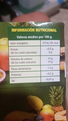 Macedonia de frutas tropicales - Información nutricional