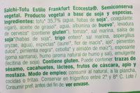 Salchi-Tofu - Ingredientes - es