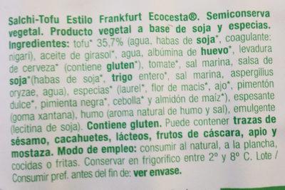 Salchi-Tofu - Ingredientes