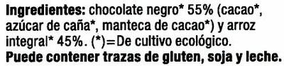 Tortitas de arroz con chocolate negro - Ingredients - es