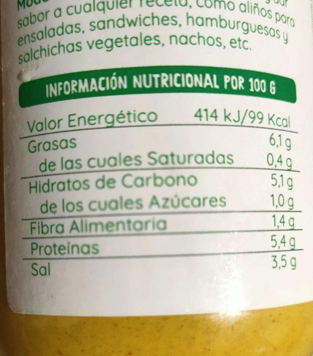 Mostaza Ecocesta Bio - Informations nutritionnelles - es
