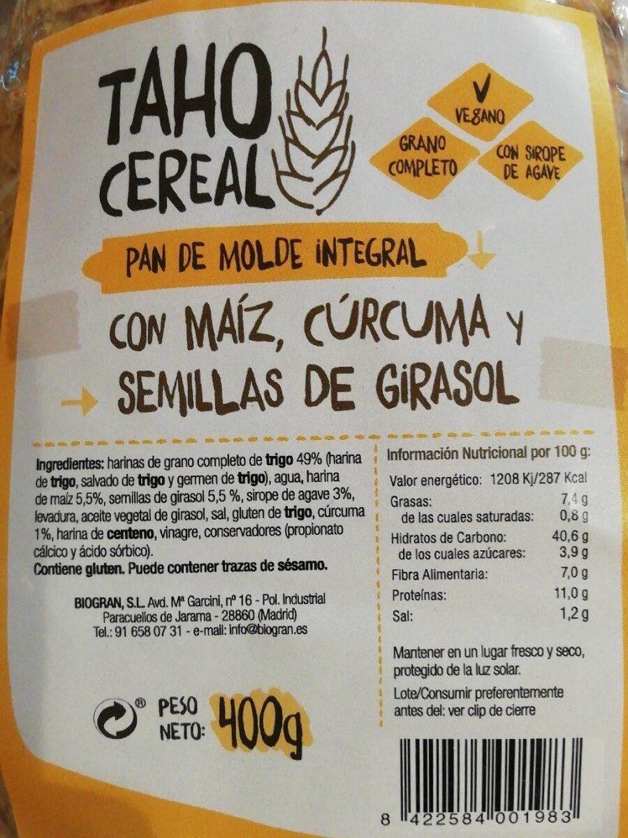 Pan taho curcuma semillas - Produit - es