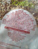 Pan de molde integral con cereales y semillas - Informations nutritionnelles - es