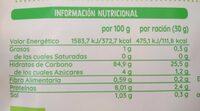 Copos de maíz tostado - Informations nutritionnelles - es