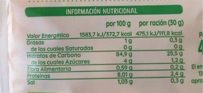 Copos de maíz tostado - Nutrition facts - es