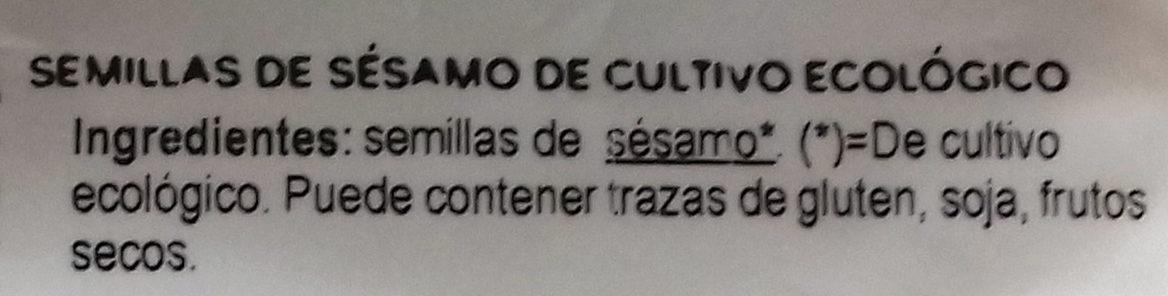 Semillas de Sésamo - Ingredients