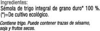 Cous cous integral - Ingredients - es
