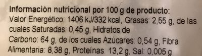 Harina de espelta integral - Información nutricional