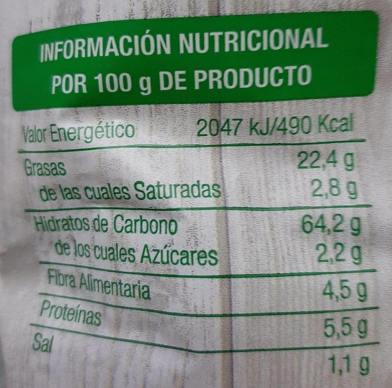 Nachos de Maíz naturales - Información nutricional - es