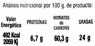 Nachos de maíz naturales - Nutrition facts